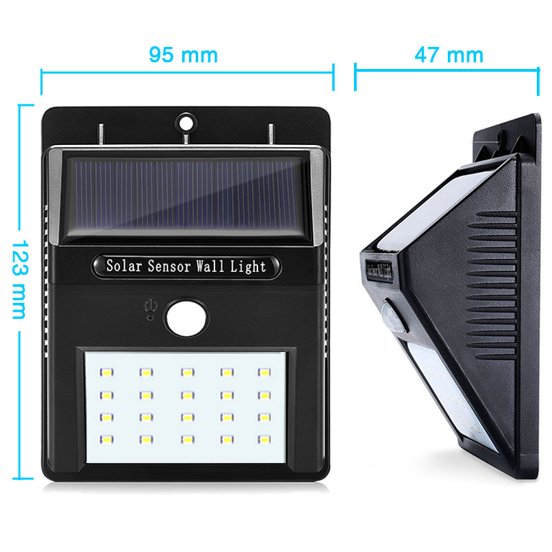 Lâmpadas Solares prova d' Água 2 pack Function 2 : Led Solar Light Outdoor