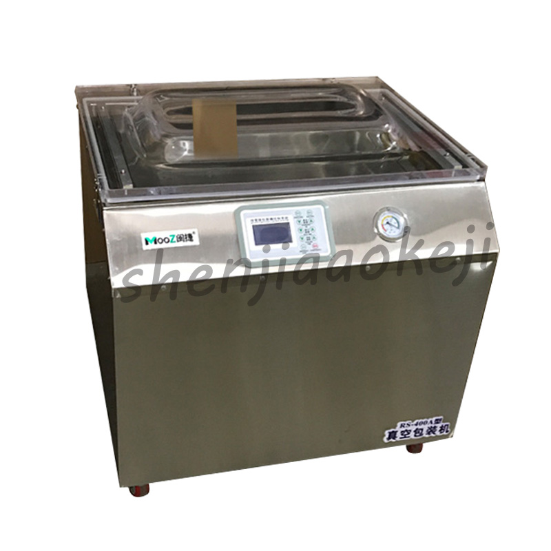 Commercial Vacuum Packing Machine RS400A Large Food Automatic Wet /Dry Vacuum Packing And Sealing Machine 220V 900W 1PC