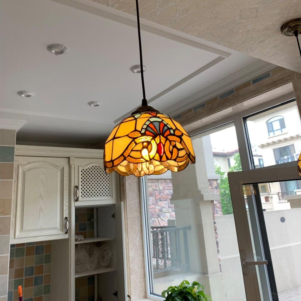 Mediterranean Style Pendant Lights Glass Shade Modern Color Led Pendant Lamp Bedroom Home Hanging Lighting Fixtures Blue Green in Pendant Lights from Lights Lighting