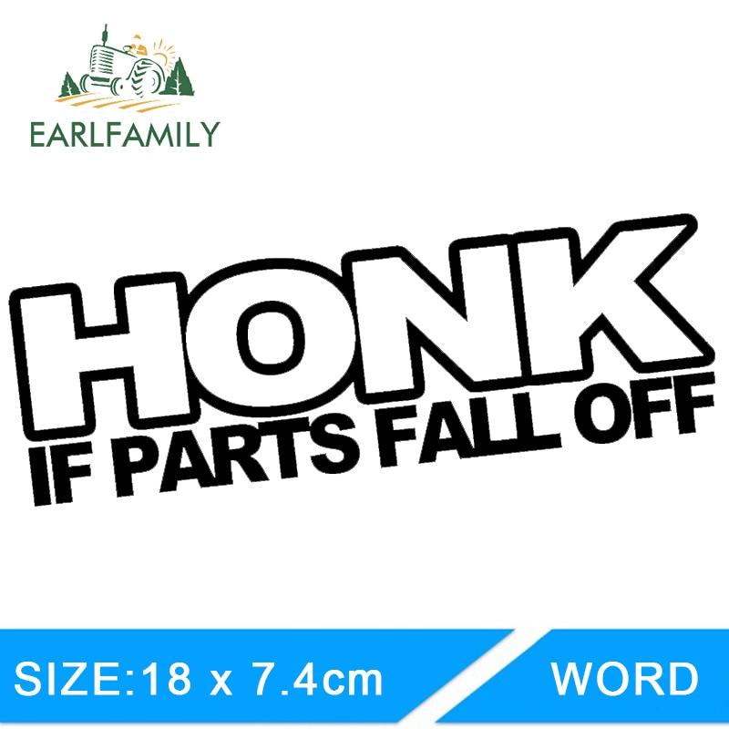 Honk If Parts Fall Off decal sticker JDM Euro Tuner Stance Drift Hoon illest car