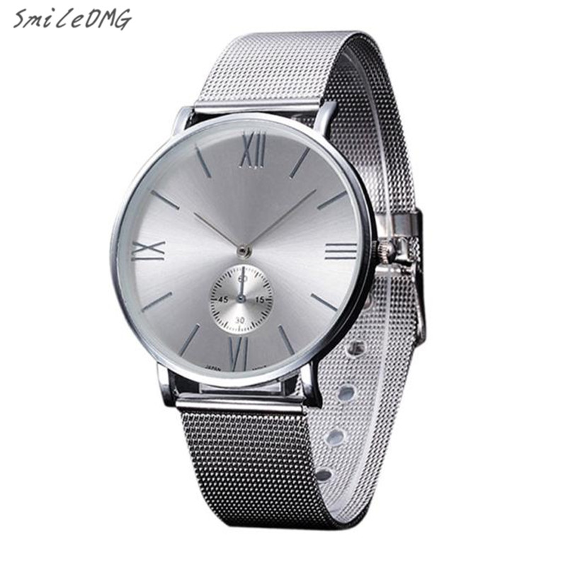 SmileOMG Hot Sale New Fashion Women Crystal Stainless Steel Analog Quartz Wrist Watch Bracelet Free Shipping,Sep 2 smileomg hot sale fashion women watch panda faux leather band analog quartz wrist watch christmas gift free shipping sep 6