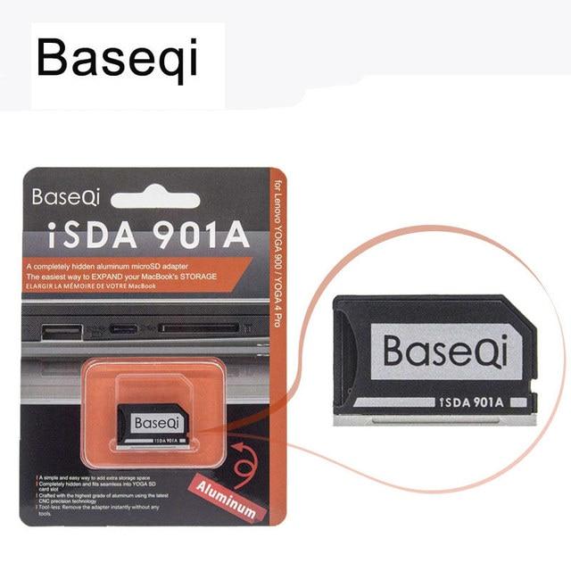 חדש Baseqi Ninja התגנבות כונן כרטיס מתאם אלומיניום MiniDrive מיקרו SD זיכרון כרטיס מתאם עבור Lenovo yoga 900 & 710 Dropship