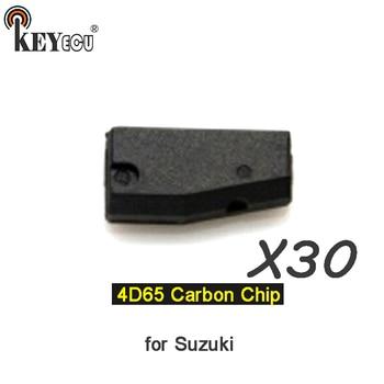 KEYECU 30x  4D65 Chip Transponder Remote key Chip Car key Carbon Chip for Suzuki