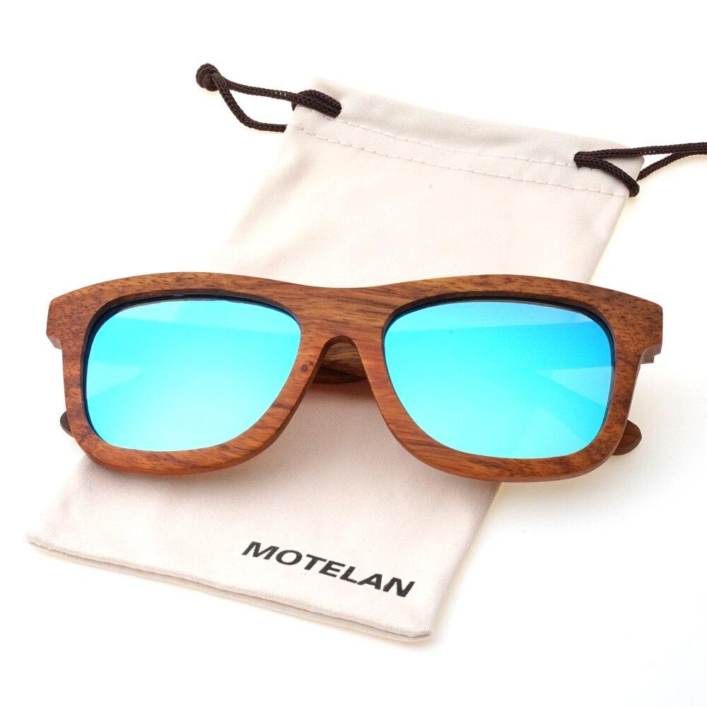 1217d82073 Polarizadas hechas a mano pera Gafas de sol anti-reflejo lente reflectante  clásico de madera artesanales vintage gafas para hombres mujeres