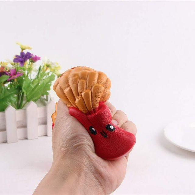 Jumbo French Fries Soft Scented Bread Cake Squishy Slow Rising Elasticity Stretch Kid Toy