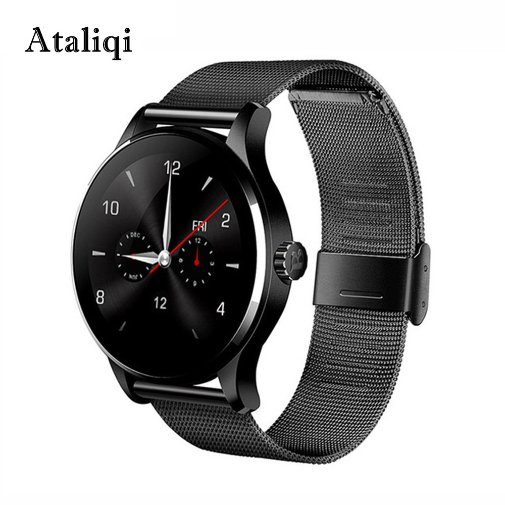Ataliqi K88H Smart Watch Round Screen Support Heart Rate Monitor Bluetooth Smart Watch For Apple Huawei Xiaomi Phone IOS Android ataliqi k88h smart watch round screen support heart rate monitor bluetooth smart watch for apple huawei xiaomi phone ios android