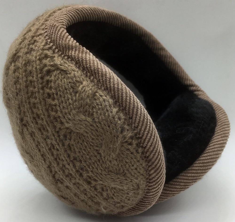 Warm Winter Knitting Earmuffs Fashionable Folding Earflap