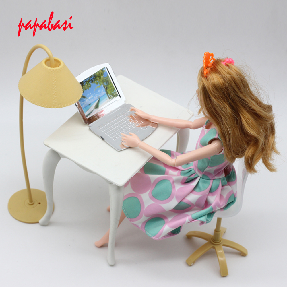 color de la mezcla de la mueca juego de casa de muecas muebles de escritorio