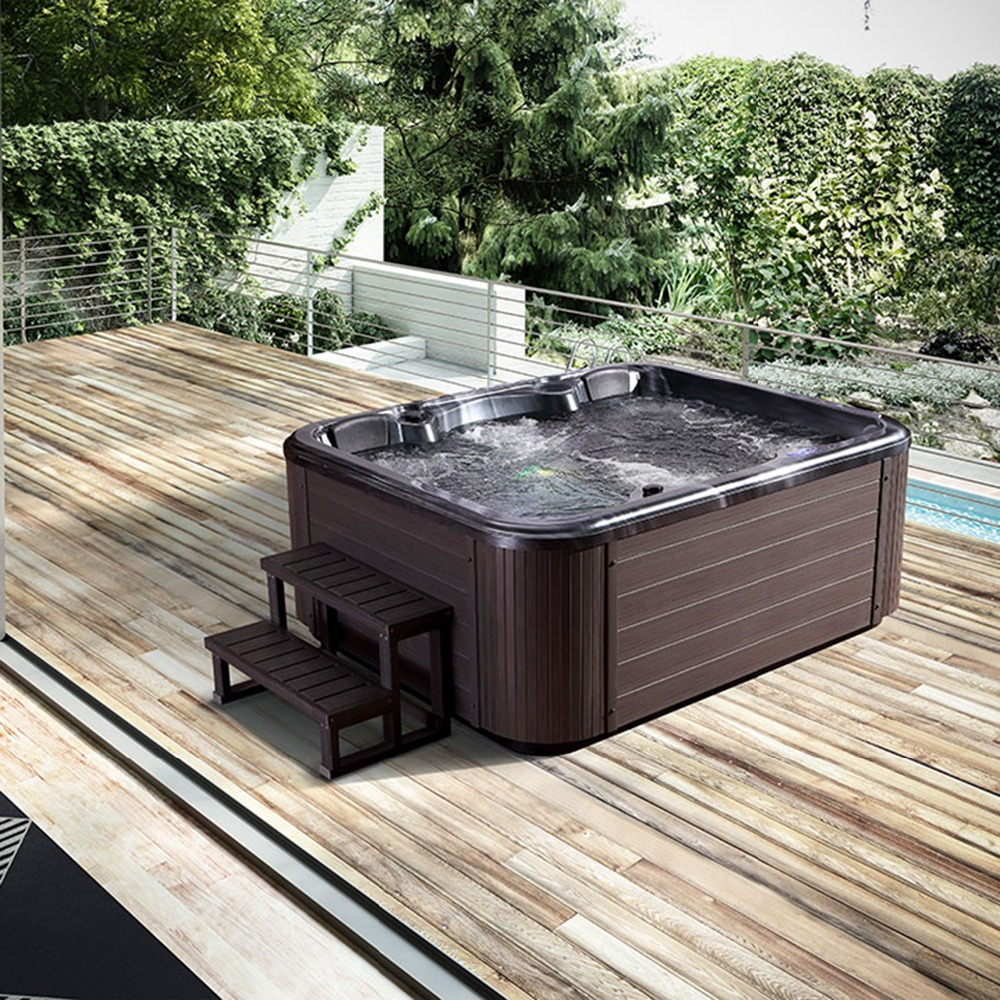 Outdoor Whirlpool Cheap Us 4619 Private Hot Sale 4 People Spa Tubs Made In China Deluxe Outdoor Whirlpool Resort Integrated Molding Acrylic In Spa Tubs From Home