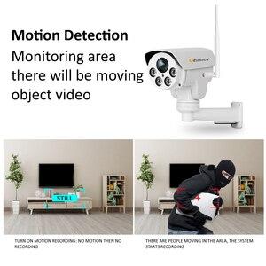 Image 3 - Einnov PTZ IP מצלמה 4X זום 1080P חיצוני אלחוטי אבטחת בית מצלמה Wifi וידאו מעקב אודיו שיא Onvif HD IR Wi fi