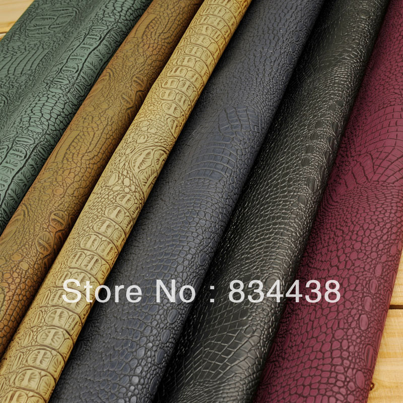 Freeshipping 1181crocodile Pu Leather Fabric For Furniture
