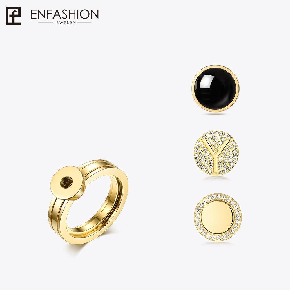 Enfashion Play Серия Винтовые кольца из нержавеющей стали золотой цвет регулируемые кольца для женщин DIY Ювелирные изделия Bagues 188007