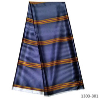 Hot sale beautiful ankara fabric african wax prints fabric 100% silk satin wax Satin african fabric 1303 101