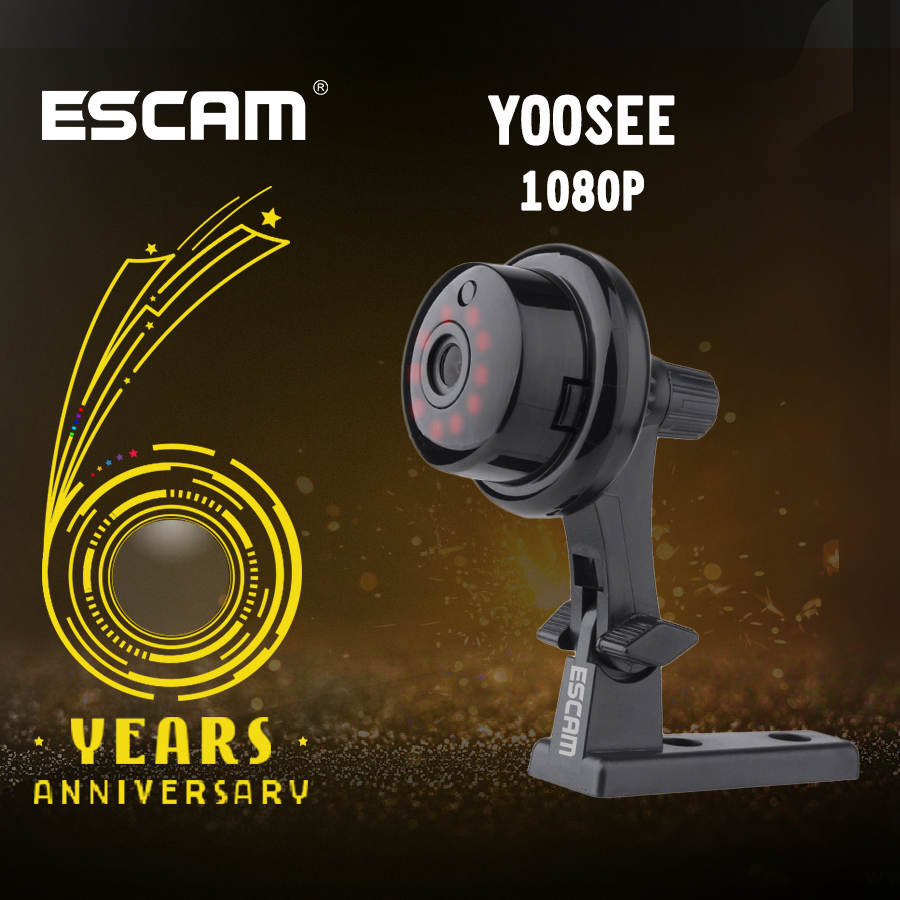ESCAM YooSee Q6 2.0M 1080P Button Mini Wireless Camera Support Android IOS PC View Motion Detector and Email Alarm up to APP image