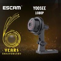 ESCAM YooSee Q6 2.0M 1080P bouton Mini caméra sans fil Support Android IOS PC vue détecteur de mouvement et e mail alarme jusqu'à APP|Caméras de surveillance| |  -