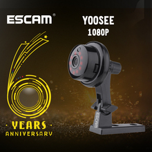 ESCAM YooSee Q6 2.0M 1080P düğme Mini kablosuz kamera desteği Android IOS PC görünümü hareket dedektörü ve e posta alarmı yukarı APP