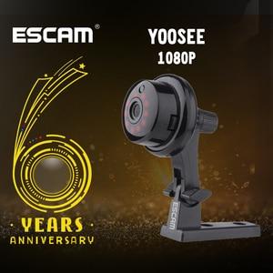Image 1 - ESCAM YooSee Q6 Mini caméra sans fil, avec bouton 2.0M 1080P, compatible Android IOS, vue PC, détecteur de mouvement et alarme Email pour application