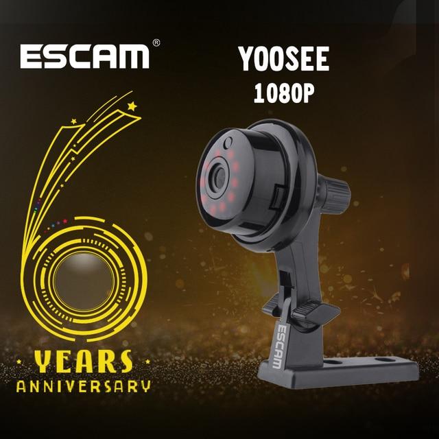 ESCAM YooSee Q6 Mini caméra sans fil, avec bouton 2.0M 1080P, compatible Android IOS, vue PC, détecteur de mouvement et alarme Email pour application