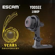 Escam yoosee q6 2.0 m 1080 p 버튼 미니 무선 카메라 지원 안드로이드 ios pc보기 모션 탐지기 및 이메일 알람 최대 app