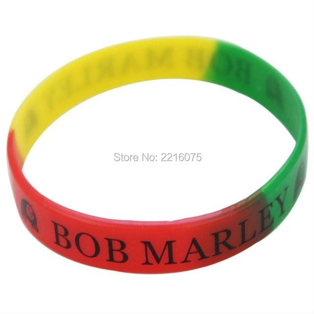codice promozionale df3a5 a4e8f US $160.0 |300 pz Bob Marley Rasta braccialetto in silicone braccialetti di  gomma trasporto libero da DHL espresso in 300 pz Bob Marley Rasta ...
