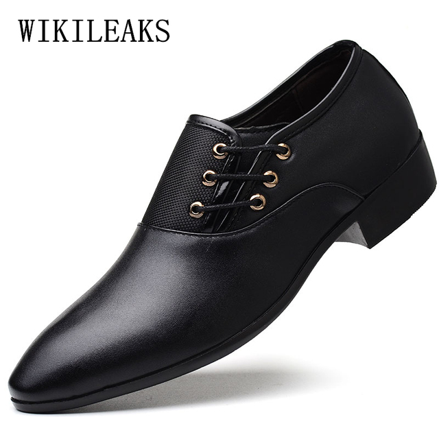 italian wedding mens pointed toe dress shoes leather man formal shoes men  mocassim masculino casual oxford a30bd8ca14c3