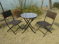 3 Pcs Pool Beach Leisure Resin Wicker Chair Set Transport By Sea