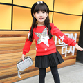 2017 hoody for girls winter coat kids clothes children clothing thick velvet girls sweatshirts pullover girls clothes 3 colors