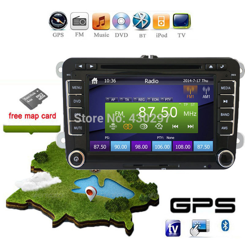2Din GPS Navi Universal Car DVD Playe for VW TIGUAN GOLF POLO PASSAT JETTA TOURAN CADDY WITH USB/SD HD TV Radio car pc автомобильный dvd плеер joyous kd 7 800 480 2 din 4 4 gps navi toyota rav4 4 4 dvd dual core rds wifi 3g