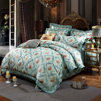 ARNIGU двуспальная кровать шелк хлопок постельное белье пододеяльник покрывало/Покрывало наволочки дворец стиль роскоши постельного белья