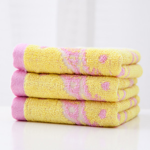 Image 4 - Bamboo Fiber Towels Weave Jacquard Small Mouse Face Towel Children Towel Water Absorption Antibacterial Environmental Protection
