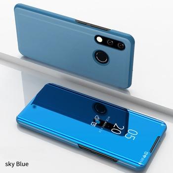 Θήκη καθρέπτης flip stand για τηλέφωνα huawei