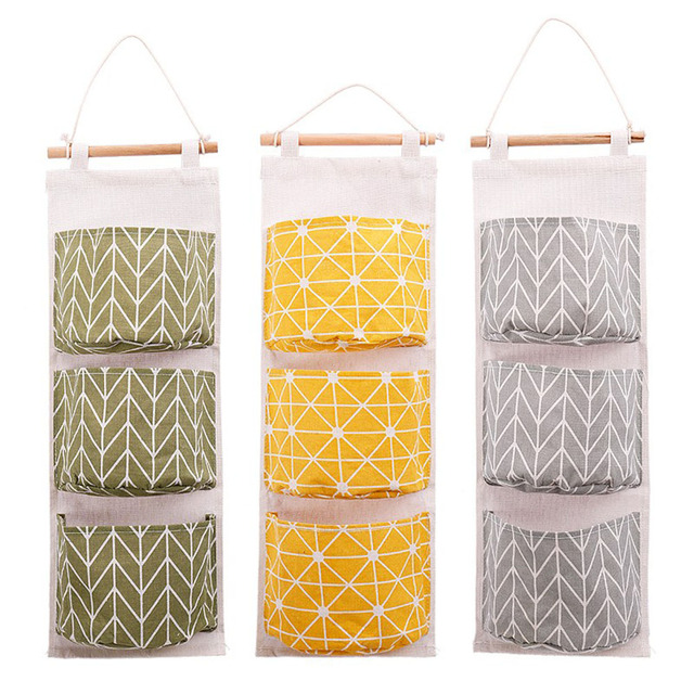 Wall Hanging Storage Bag Organizer Closet For Kitchen Bathroom Livingroom Door