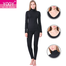 YOOY Brand 2018 New Winter Thermal Underwear Women Elastic Breathable Female U neck Casual Warm Long Johns Sets