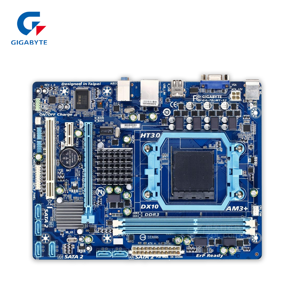 Gigabyte GA-78LMT-S2 Original Used Desktop Motherboard 78LMT-S2 760G Socket AM3 DDR3 SATA2 USB2.0 Micro ATX 100% original desktop motherboard for gigabyte ga 78lmt s2p ddr3 socket am3 fully integrated gigabit ethernet free shipping