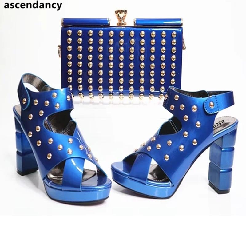 Y Bolso azul Color rojo púrpura Mujeres El Para Sistemas Las Nigerianas Partido Rojo Matching Los Últimas blanco Africano oro Del Bolsa En Negro Zapato HBqpFXnw
