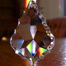 20 шт. AAA 50 мм прозрачный Французский кулон барокко лист кристалл Призма фэн шуй Хрустальная Люстра Запчасти