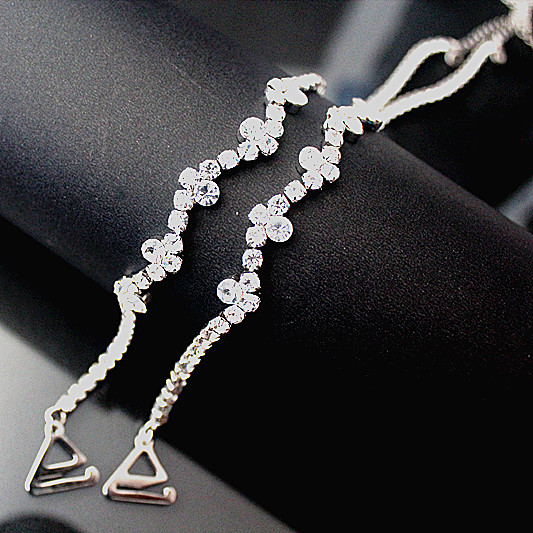 Wedding Dress Accessories Straps : Single row rhinestone bra straps flowers simple encryption