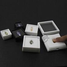 Качественный черный и белый 20 шт./лот, алмазная коробка, пластиковая коробка с драгоценными камнями, чехол для хранения драгоценных камней, органайзер 3*3 4*4 5*5 6*6 9*9 см