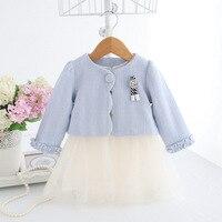 IDEA FISH Girls Dress Kids Children Clothing Set Autumn Clothes For 0 2T Baby Girls Coat