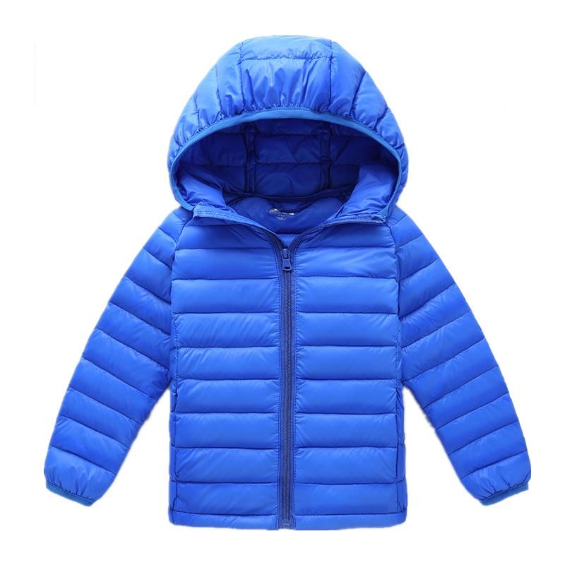 0d2d10fea Kids Boys Winter Coats New 2016 Solid Hooded Lightweight Down Parka ...