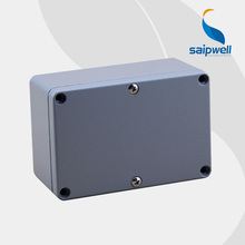 2015 High Quality IP66 Aluminium Extrusion Box Enclosure 120*80*55 with 6 Screws and 2 Iron Mounting Feet