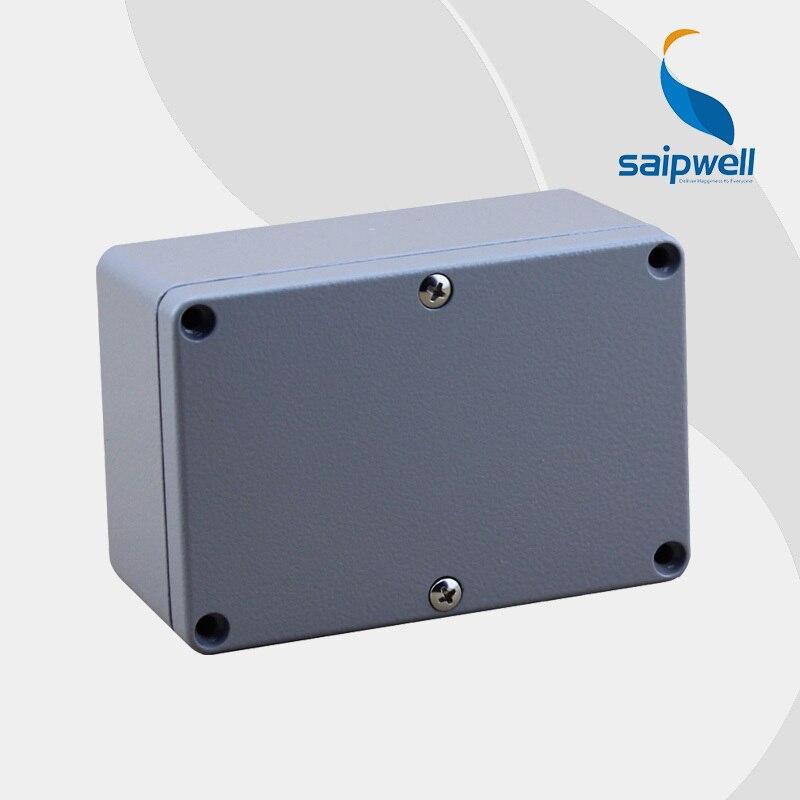2015 Hoge Kwaliteit Ip66 Aluminium Extrusie Box Behuizing 120*80*55 Met 6 Schroeven En 2 Ijzer Montage Voeten Glanzend