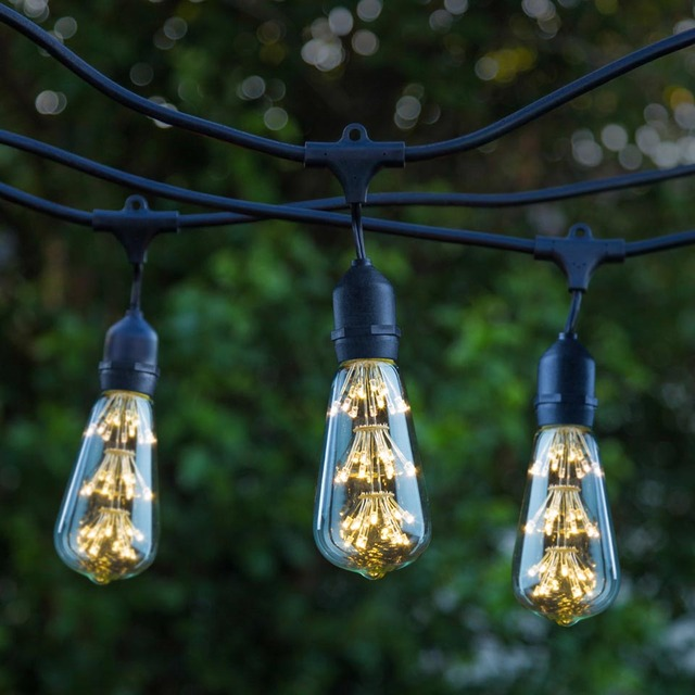 48 foot weatherproof outdoor string lights e26 commercial grade 48 foot weatherproof outdoor string lights e26 commercial grade heavy duty strand lighting perfect for market workwithnaturefo
