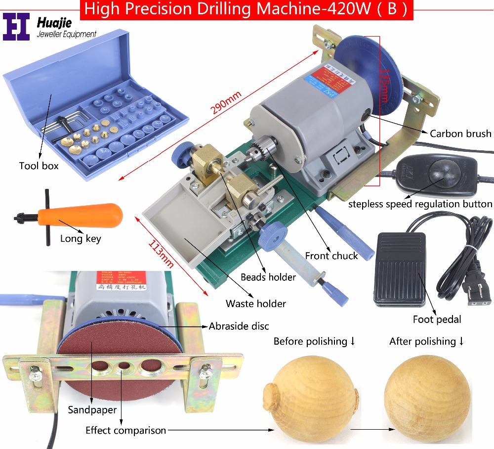 Promotion 420W 220V Pearl Holing Machine Pearl Drilling Machine jewelry tools