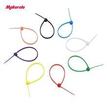 Отправки 3x100 нейлон кабель галстук с автоблокировкой Пластик