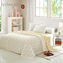 Lychee 90x100cm Towel Blanket for Bed Bath Sofa Travel Use Children Blanket Towel Cute Star Pattern