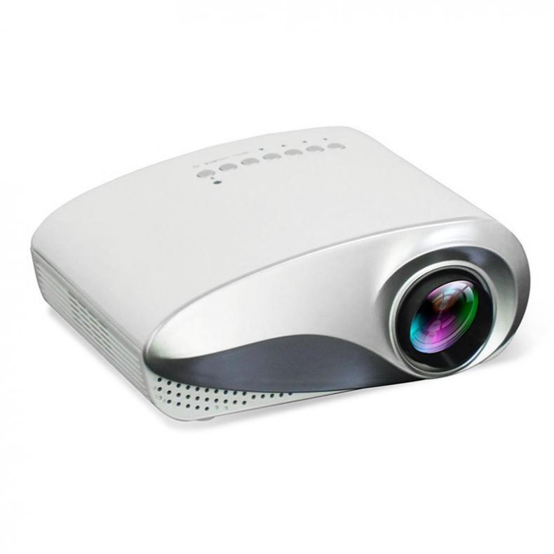 RD802 200 Lumen Tragbare LED Homehold Multimedia Projektor mit Eingebauten Lautsprecher Unterstützung 100 Zoll Großen Bildschirm Projektion