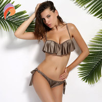 Anadzhelia 2017 Sexy Lotus Leaf Bikinis Women Swimsuit Brazilian Bikini Set Beach Bathing Suit Push Up