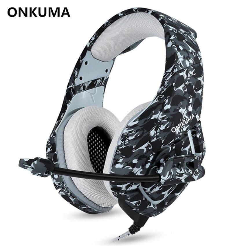 ONIKUMA K1-B PC Gaming Headset Bass Kopfhörer MIC für PS4 neue Xbox 1 Schalter Computer Handy Spiel PUBG Kopfhörer Camouflage
