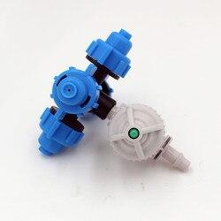 40 sztuk/paczka 4 dysze Fogger zaparowania zraszacz z białym Antidrip złącze do mikro nawadniania do nawadniania kropelkowego M188